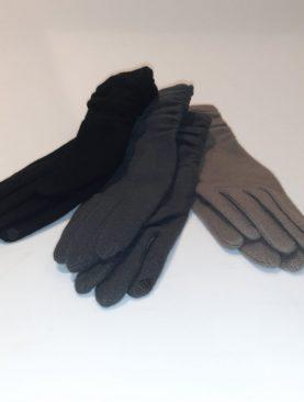 Guanti in maglina di lana con touch