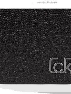Calvin Klein Portafoglio Uomo Con Ribaltina  10 C/Credito Pelle Martellata