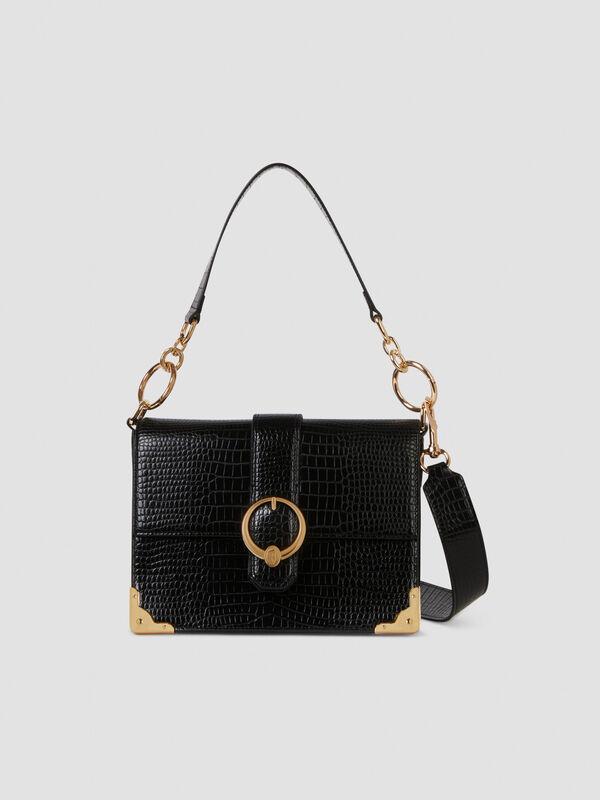Medium Miami crossbody bag in croco print faux leather TRUSSARDI JEANS 50 01 8051932427146 F