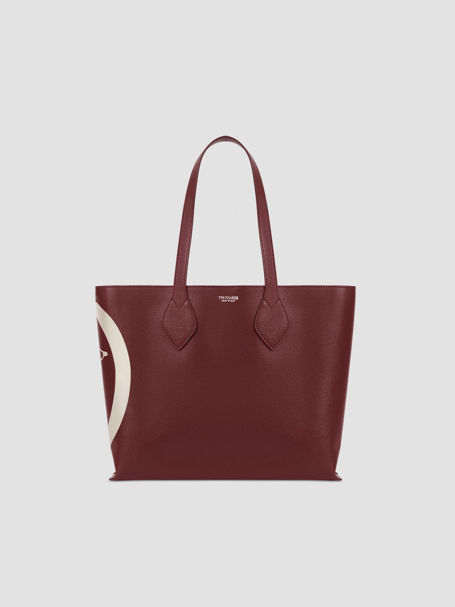 Medium faux saffiano leather shopper TRUSSARDI JEANS 50 01 8051932380908 F