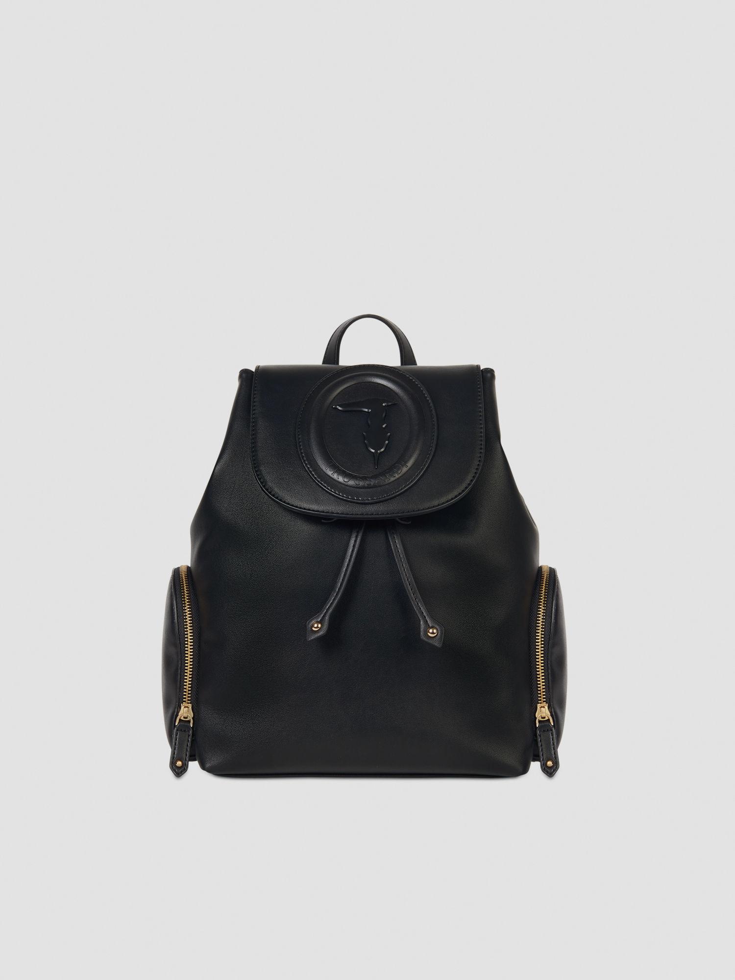Medium smooth faux leather Lisbona backpack TRUSSARDI JEANS 50 01 8051932385750 F