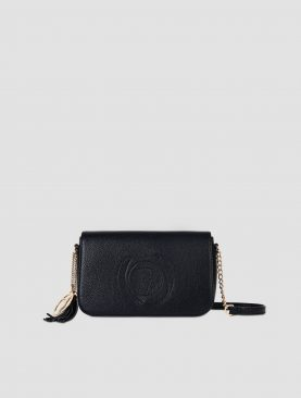 Trussardi borsa Cross-body small Faith in similpelle martellata