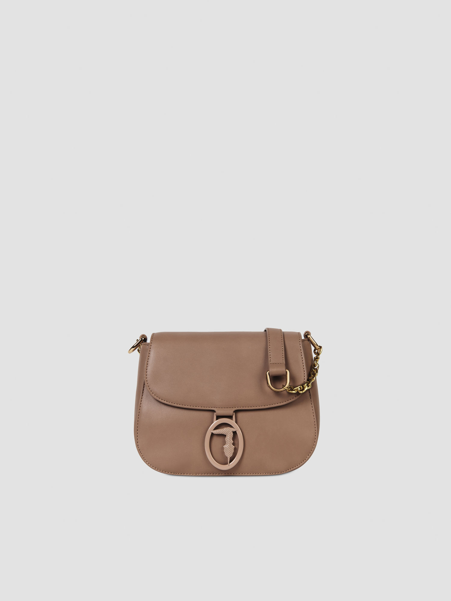 Small crossbody bag in solid colour faux leather TRUSSARDI JEANS 50 01 8051932413187 F