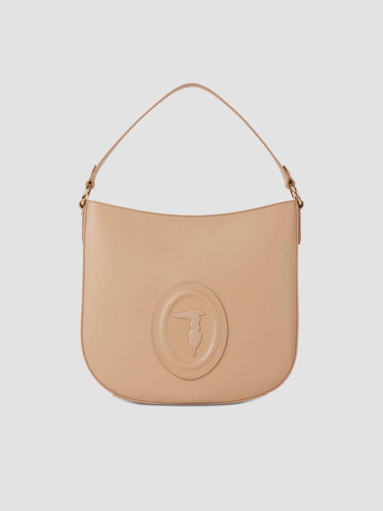 Medium smooth faux leather Lisbona hobo bag TRUSSARDI JEANS 50 01 8051932426378 F