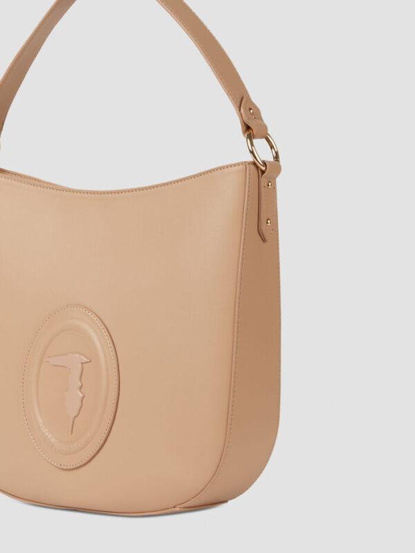 Medium smooth faux leather Lisbona hobo bag TRUSSARDI JEANS 50 02 8051932426378 SD1 1