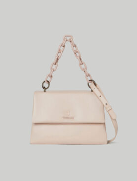 Borsa Trussardi modello Claire Shoulder MD Smooth ecoleather Nude