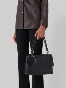 Borsa Trussardi modello Claire Shoulder MD Smooth ecoleather Black
